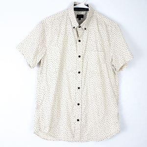 J. CREW Number Print Slim Fit Short Sleeve Shirt